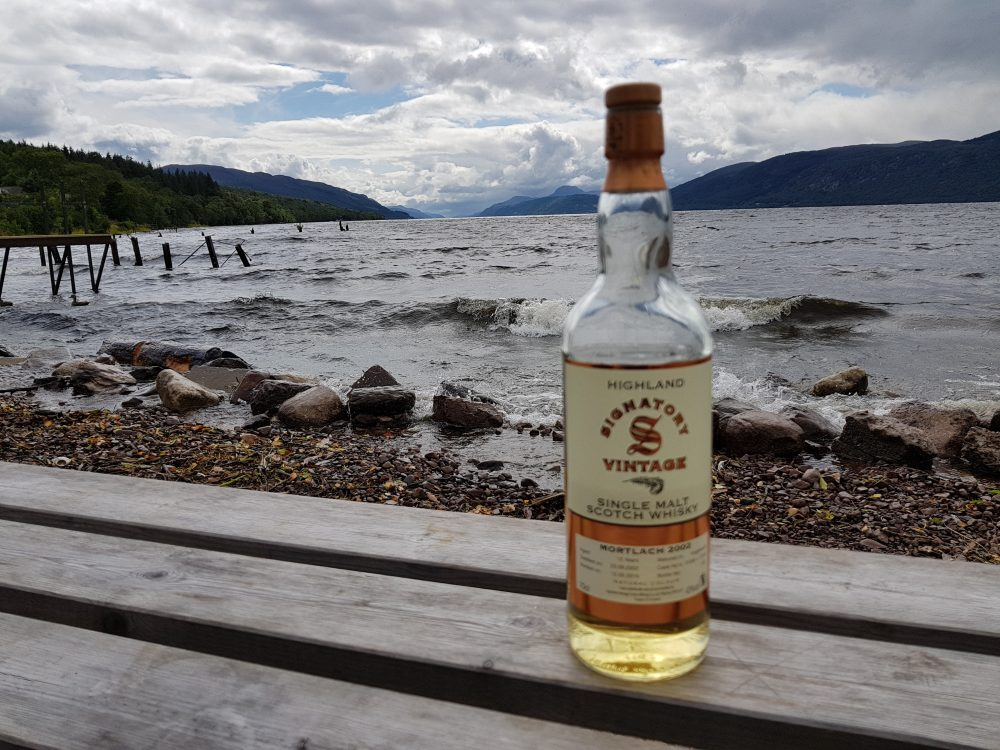 whisky by Loch Ness